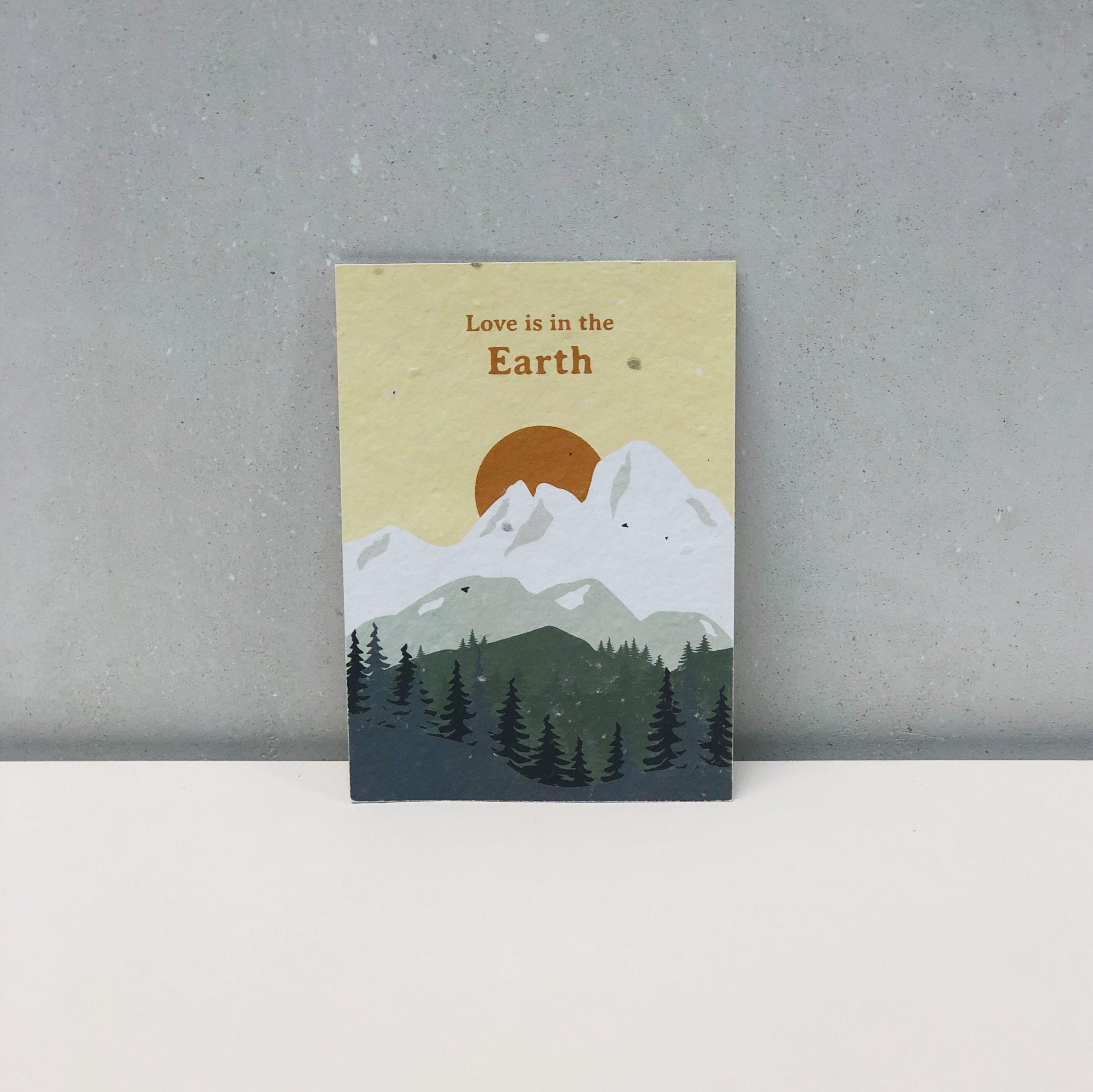 tarjeta papel semillas regalo