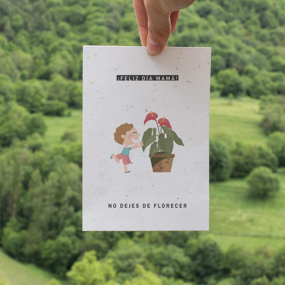 tarjeta regalo sostenible