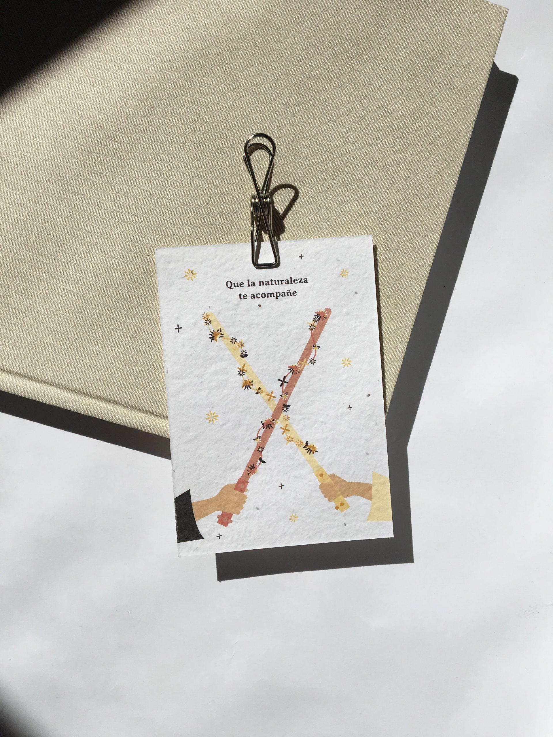 tarjeta regalo papel semillas
