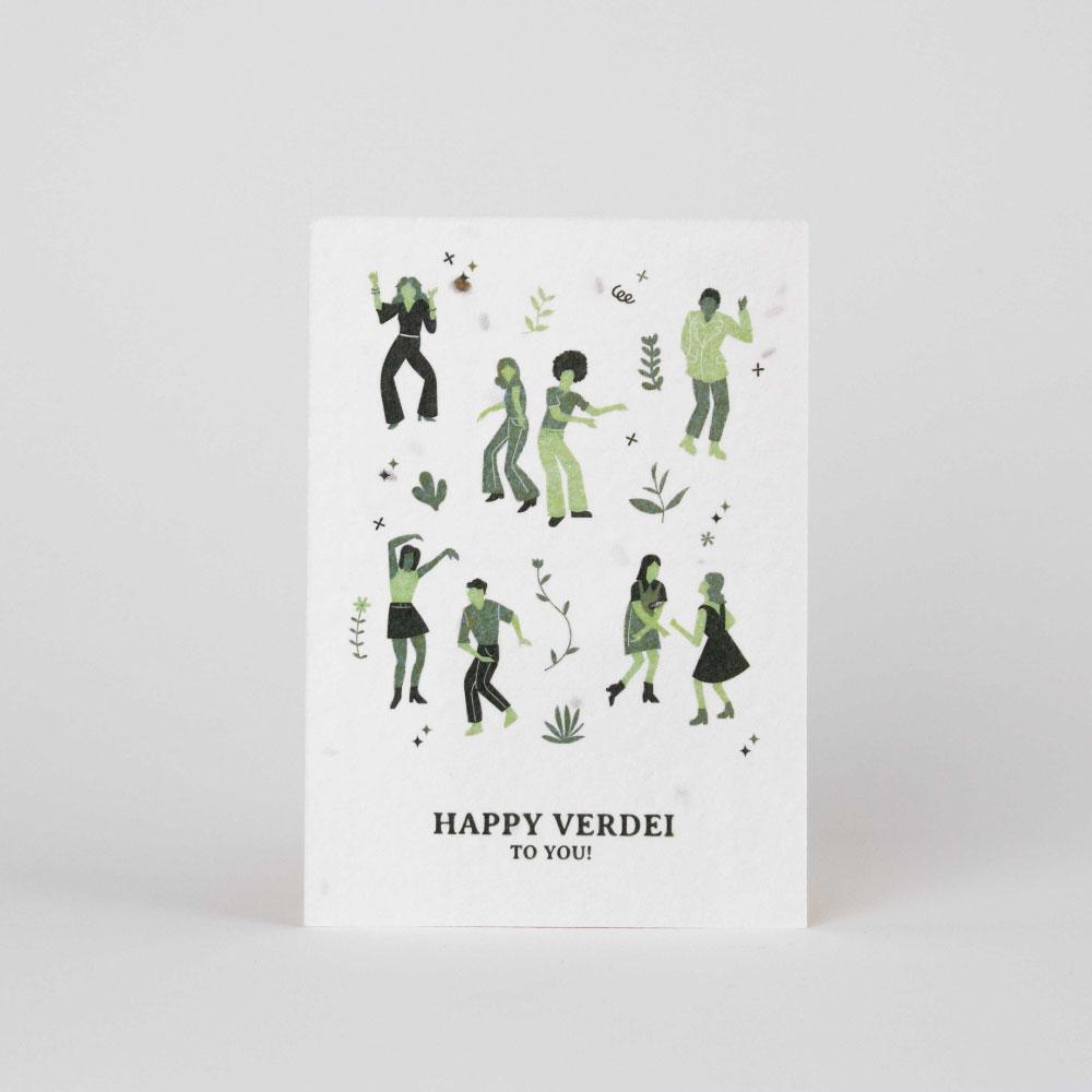 Tarjeta cumpleaños HAPPY VERDEI
