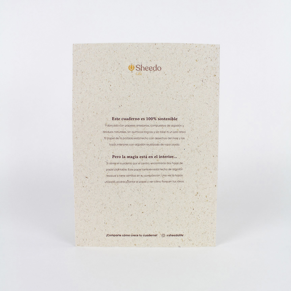 cuaderno plantable TRASERA